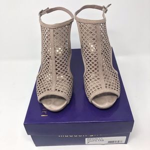 Madden Girl Size 7 Taupe Caged Heels